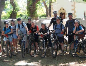 mountain-biking in Crete