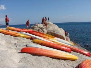 kayaking in Crete