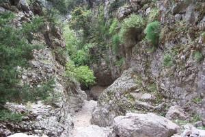 gorge-walking in Crete